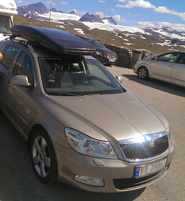 På vei over Sognefjellet med Skoda Octavia - sommeren 2014
